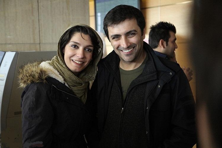 امین زندگانی در کنار همسرش الیکا عبدلرزاقی
