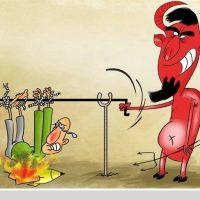 کاریکاتور چهار شنبه سوری عید ۹۷