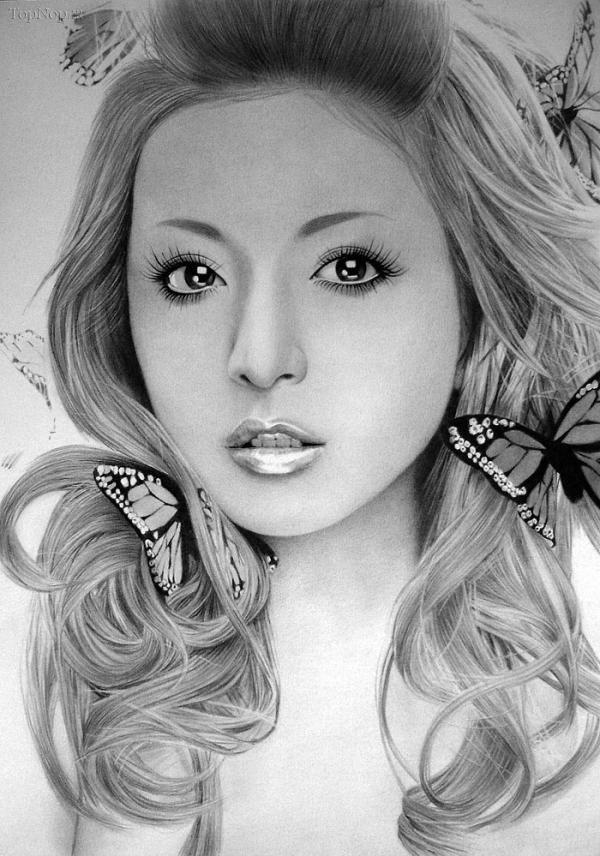 نقاشی سیاه قلم از چهره های مشهور جهاننقاشی سیاه قلم از چهره های مشهور جهان