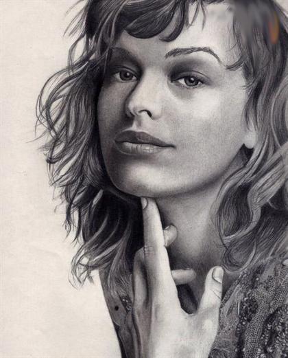 نقاشی سیاه قلم از چهره های مشهور جهان