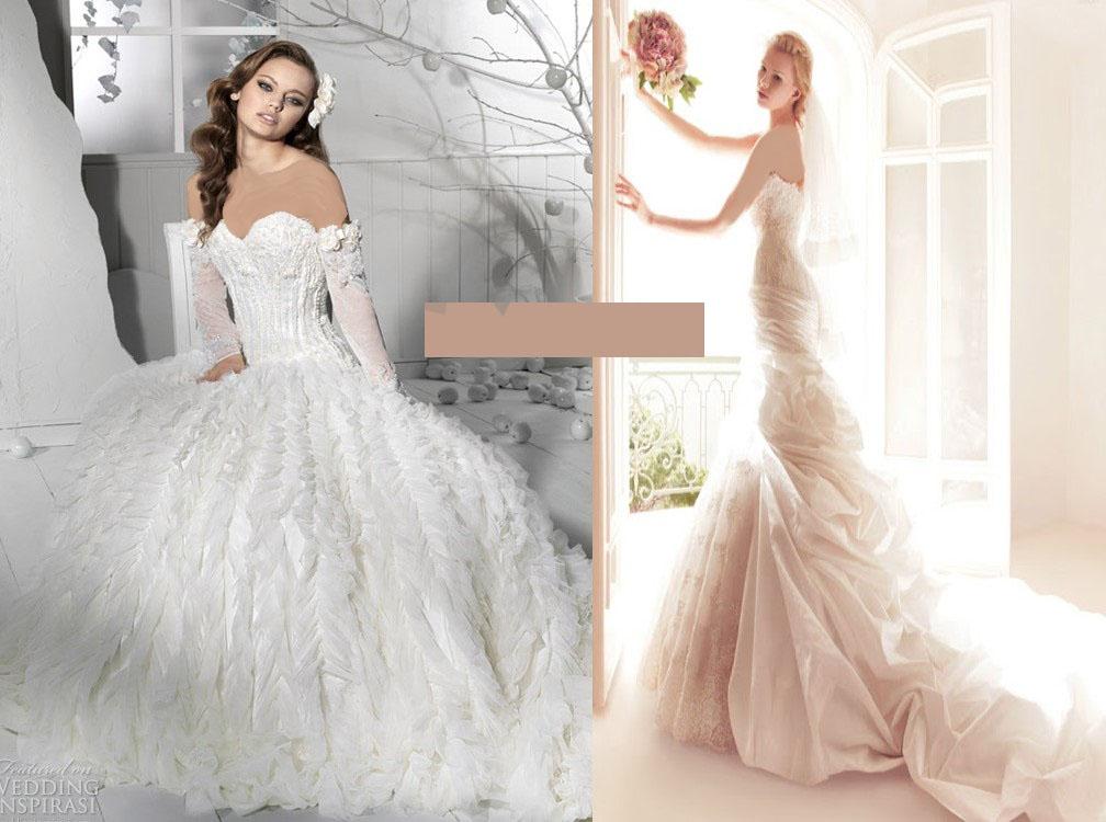 زیباترین مدل های لباس عروس 2015