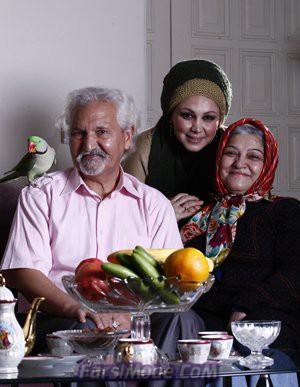 عکس بهنوش بختیاری در کنار خانواده