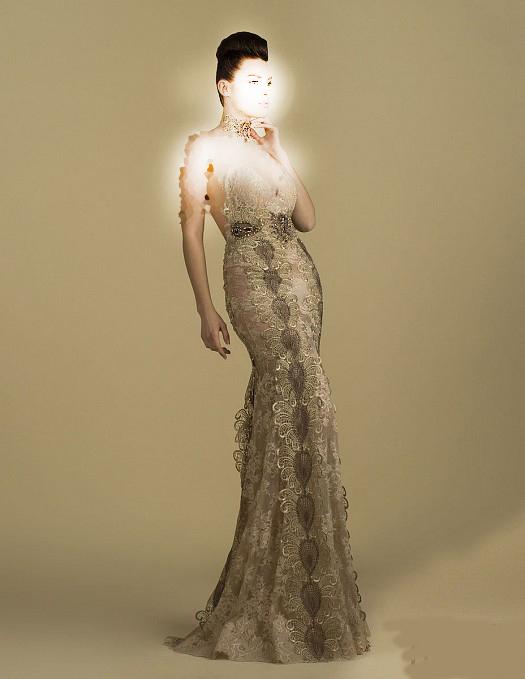 زیباترین مدل های لباس شب گیپور 2015