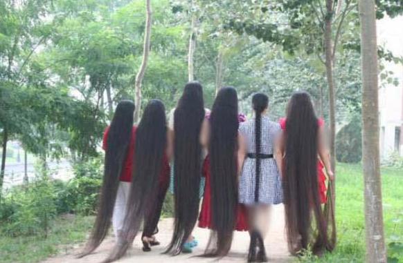 عکس های دیدنی از زنانی با بلند ترین مو در جهان