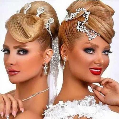 ارایش مو و گریم صورت عروس