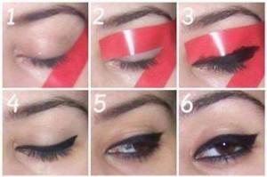مراحل کشیدن خط چشم