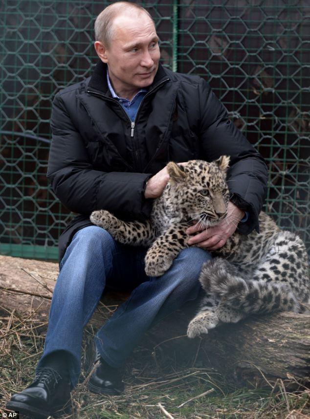 پوتین در کنار پلنگ ایرانی