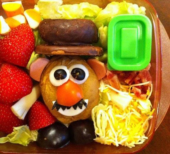ایده ای جدید برای تزیین غذای کودکان