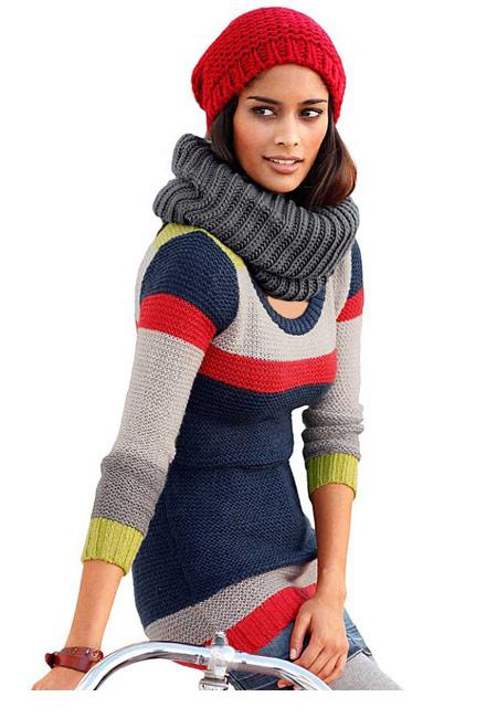 سری جدید مدل لباس بافت زمستانی 2016 دخترانه