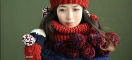 شیک ترین مدل شال و کلاه بافت ۲۰۱۶ دخترانه