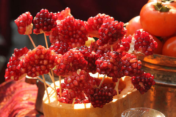 ایده ای جدید برای تزیین میوه و اجیل شب یلدا 94