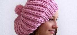 اموزش بافت کلاه دخترانه و زنانه