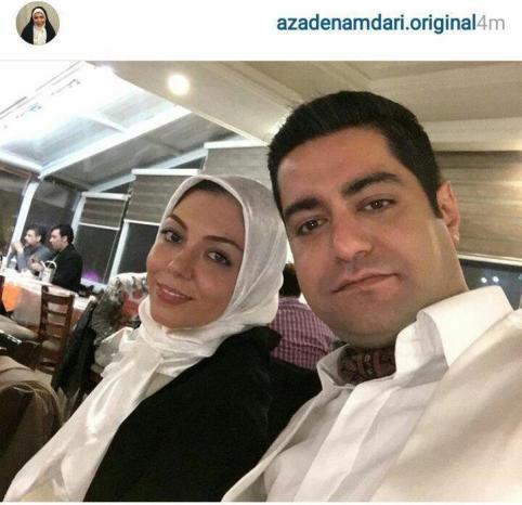 عکس ازاده نامداری در کنار همسر جدیدش