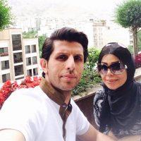 عکس جالب وحید طالب لو در کنار همسرش