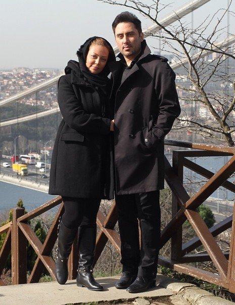 عکس نیما مسیحا در کنار همسرش
