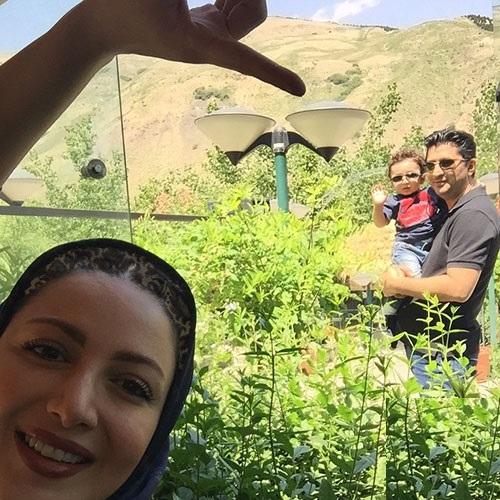تصاویر زیبای شیلا خداداد و همسرش و فرزندش سامیار