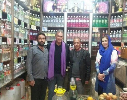 کارلوس کی روش و همسرش در بازار ایران