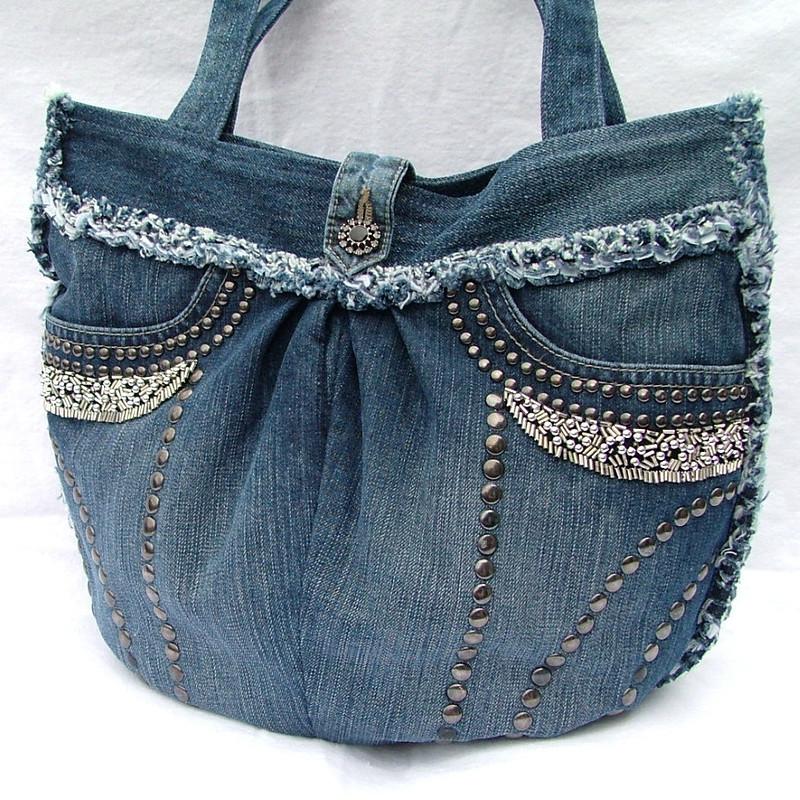 دوخت کیف با شلوار لی (استفاده ی مجدد از شلوار جین)