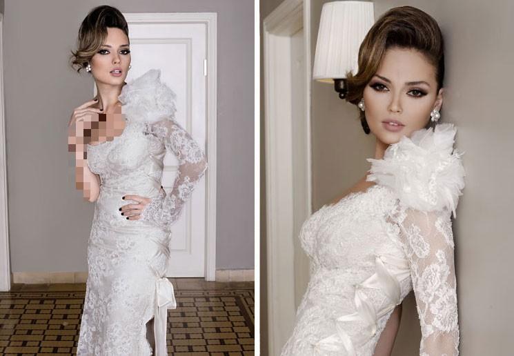 مجموعه مدل لباس عروس 2016 گیپور استین دار