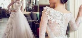 مجموعه مدل لباس عروس ۲۰۱۶ گیپور استین دار