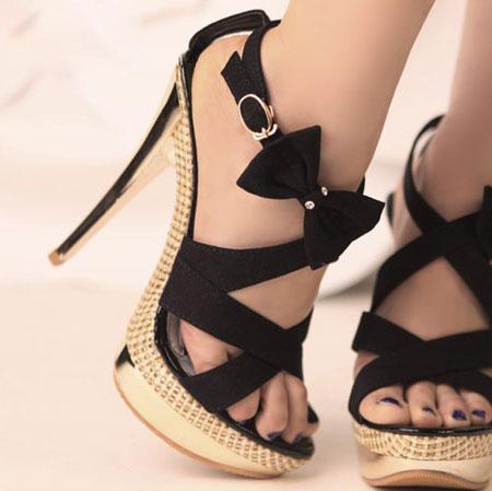 شیک ترین نمونه های کفش مجلسی دخترانه تابستان 2016