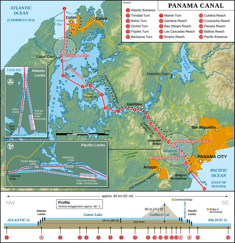 کانال پاناما از گذشته تا حال
