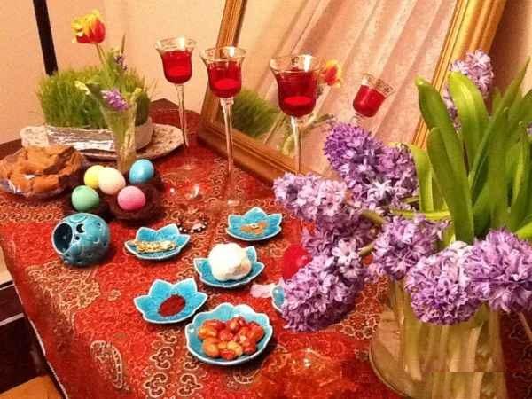 سفره هفت سین بهار 96 / تزیین تخم مرغ رنگی