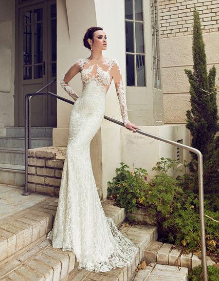 مجموعه ای از جدیدترین مدل لباس عروس 2017 دانتل