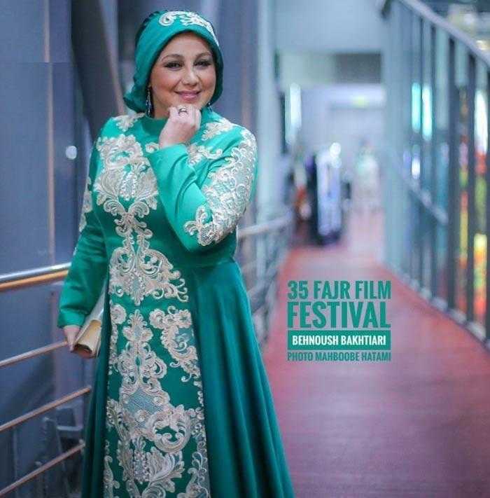 لباس خاص بهنوش بختیاری در جشنواره ی فجر/ ژست بنوش بختیاری در برج میلاد