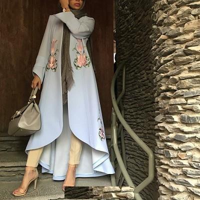 گالری مدل مانتو تابستانه 2018 بلند مجلسی
