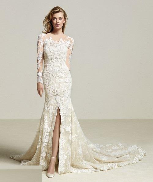 سری جدید مدل لباس عروس اروپایی 2018 دانتل