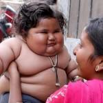 چاهات / چاق ترین شیرخوار دنیا در هند