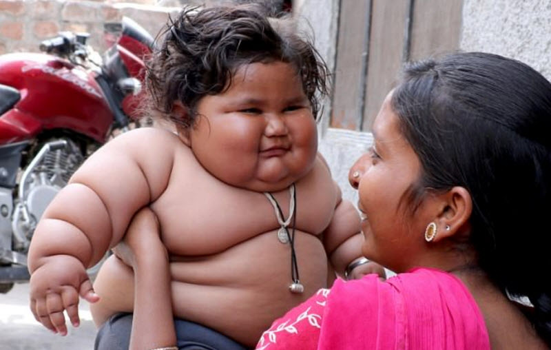 چاهات / چاق ترین شیر خوار دنیا در هند