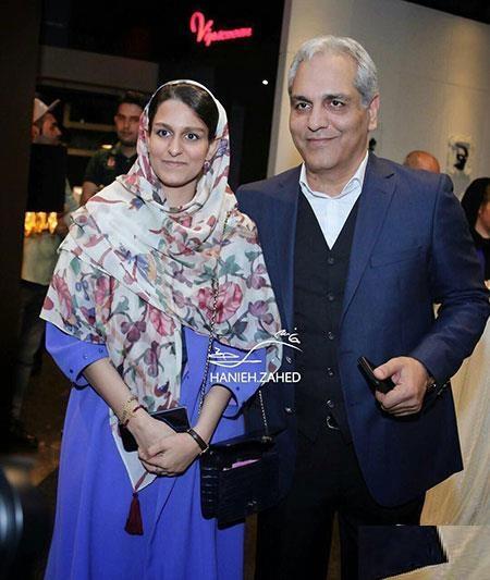 مهران مدیری و دخترش در اکران فیلم ساعت 5 عصر