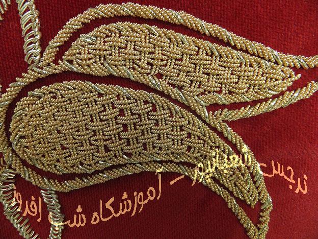 سنگ دوزی روی لباس و رومیزی /آموزش سرمه دوزی