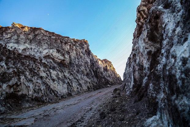 گزارش تصویری از کوه نمک قم