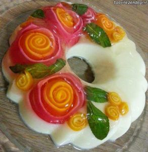 سری جدید تزیین ژله / ژله با میوه . تزریقی ...