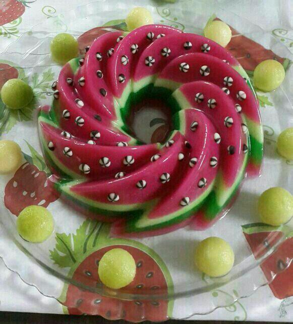 سری جدید تزیین ژله با میوه / تزیین ژله بستنی