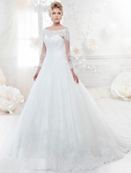 سری جدید مدل لباس عروس 2018 دانتل / لباس عروس پف دنباله دار