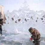 گزارش تصویری از جشن واره مجسمه یخی در روسیه