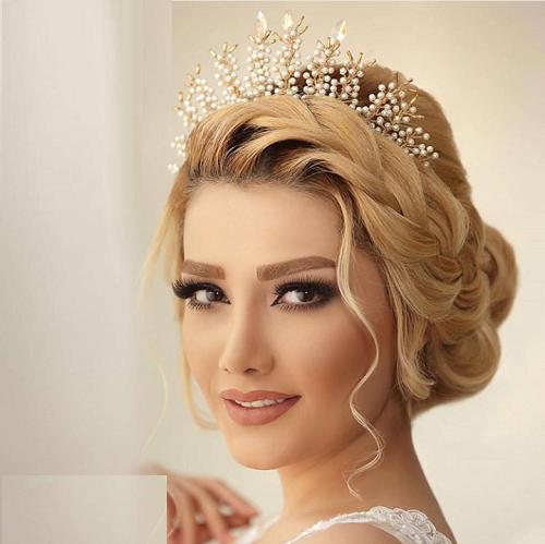 مدل موی باز با تاج خاص ترین مدل آرایش عروس تابستانه 97 / شینیون باز و بسته 2018