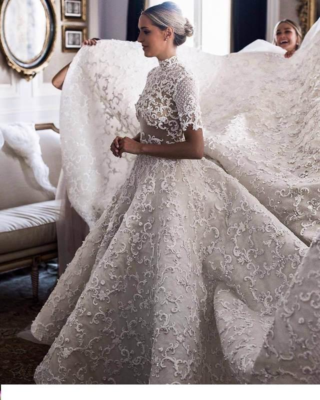 مدل لباس عروس 2018 خارجی