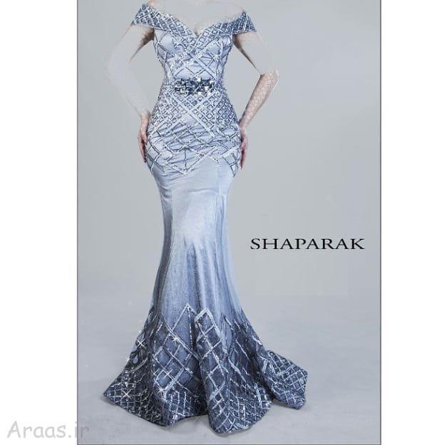 مدل پیراهن بلند با پارچه لمه جدیدترین گالری مدل لباس مجلسی بلند / مدل لباس نامزدی شیک ...