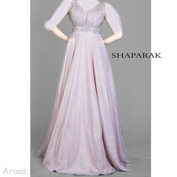 مدل پیراهن بلند با پارچه لمه جدیدترین گالری مدل لباس مجلسی بلند / مدل لباس نامزدی شیک