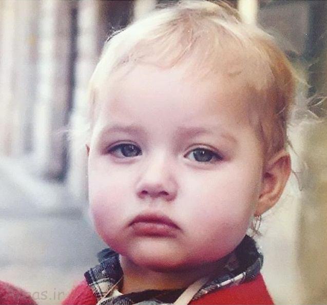 عکس کودکی گلوریا هاردی