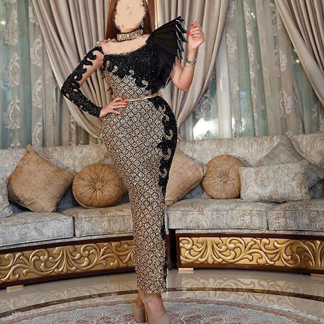 زیباترین مدل های لباس مجلسی عربی بلند اینستاگرامی