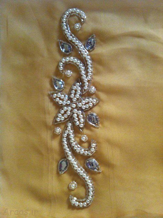 سری جدید الگو های سنگ دوزی لباس با ملیله مروارید و پولک