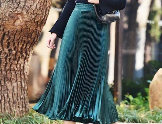 مدل دامن بلند پیلی دار