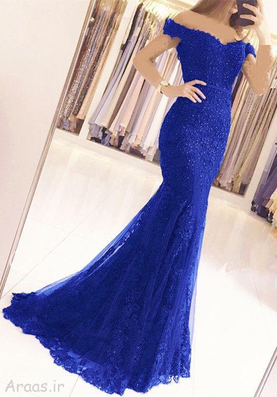 مدل لباس مجلسی رنگ سال ۲۰۲۰/ پیراهن نامزدی بلند