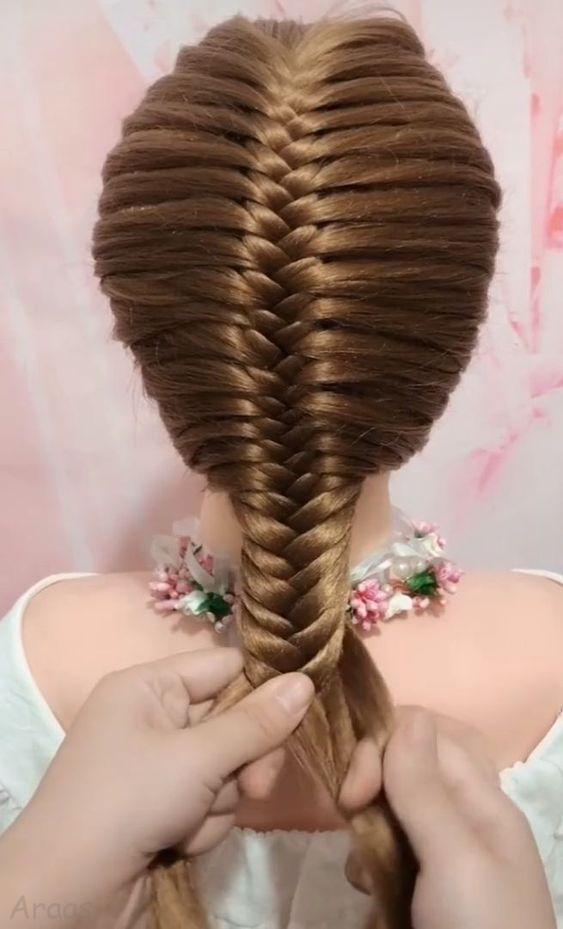 مدل های زیبای بافت مو بلند